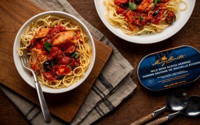 Pasta Puttanesca with Smoked Herring